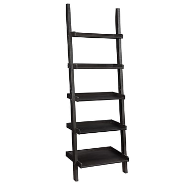 COASTER Ladder Bookcase Cappuccino