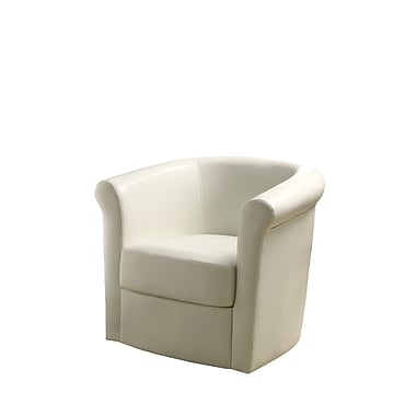 COASTER Swivel Metal Accent Chairs White