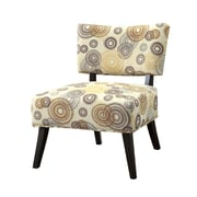 COASTER Wood & Fabric Seating  Accent Chairs Swirl