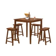 COASTER 5 Pc Pub Set Dark Walnut