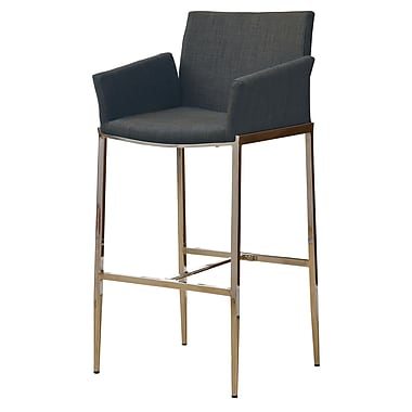 COASTER Fabric Bar Stool Charcoal