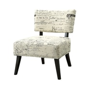 COASTER Wood & Fabric Seating  Accent Chairs French Script