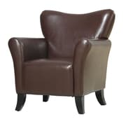 COASTER Wood & Metal Vinyl Upholstered  Accent Chairs Brown