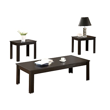 COASTER Occasional Table Sets Wood and Wood Veneers 15in.H x 44in.W x 22in.D  Black