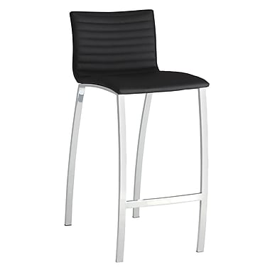 COASTER Ribbed Bar Height Stool With Bowed Legs Black