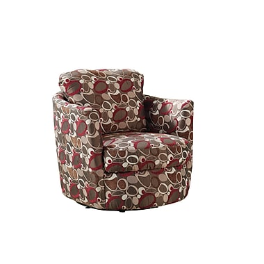 COASTER Fabric Oblong Accent Chair, Multi (900406)