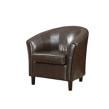 COASTER Curved Barrel Back Wood Accent Chair Rich Brown