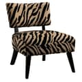 COASTER Accent Chair Wood Seating Zebra Print