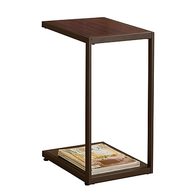 COASTER 24in.H x 12in.W x 19.75in.D Wood / Metal Snack Table Dark Brown