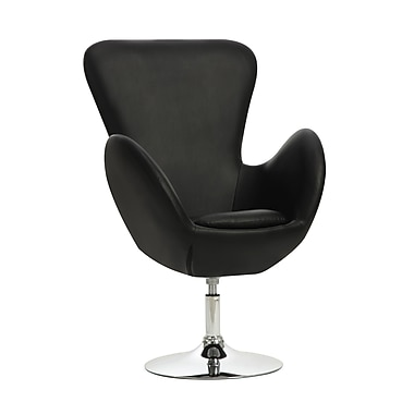 COASTER Metal & Fabric Swivel Leisure Accent Chairs Black