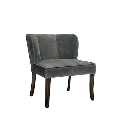 COASTER Flared Back Wood Accent Chairs Charcoal