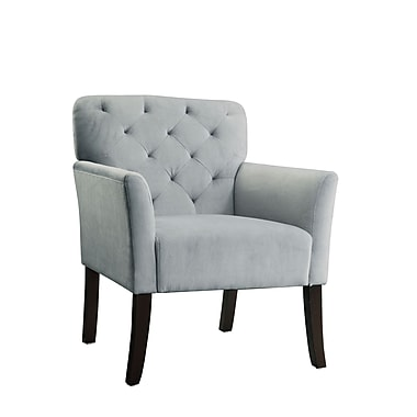 COASTER Seating Wood & Fabric Accent Chairs Gray