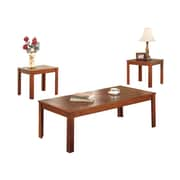 COASTER 16H x  48W x 24D Wood and Wood Veneers 3 Piece Occasional Pine Veneers