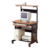 COASTER Mobile Workstation Desk with Casters , Walnut (7121)