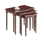 COASTER 18 H x 21.5 W x 15 D Wood Nesting Tables Warm Brown