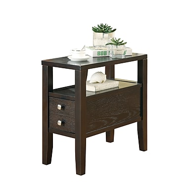 coaster end table wood 24 h x 12 w x 24 d chairside table staples