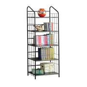 COASTER Home Office/Storage Bookcase, Black Metal