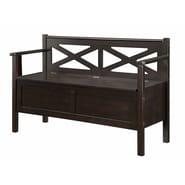 COASTER Storage Bench Dark Walnut