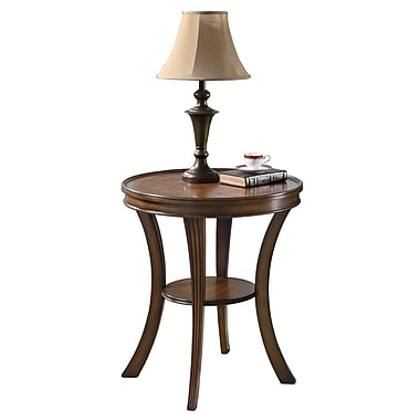 COASTER Accent Table Round Parquet Brown