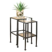 COASTER Tables 2 Pieces  With a Composition Of Glass And Metal