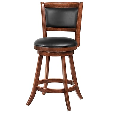 COASTER Swivel Bar Stool w/ Upholstered Seat 24in.