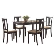 COASTER Dining Set 5 Piece Bold Black by