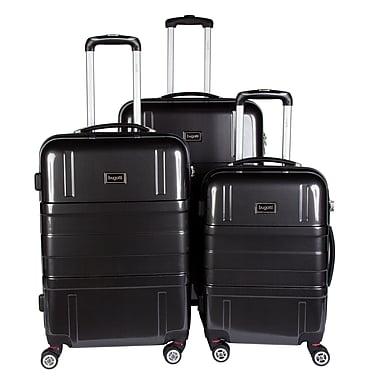 Bugatti 3-Piece Expandable Hard Case Luggage Set, Black (HLG1600)