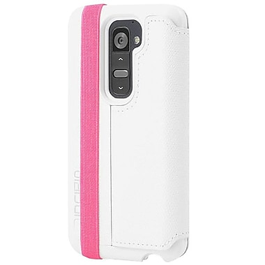 Incipio® Watson™ Folio Case For LG G2, White/Turquoise