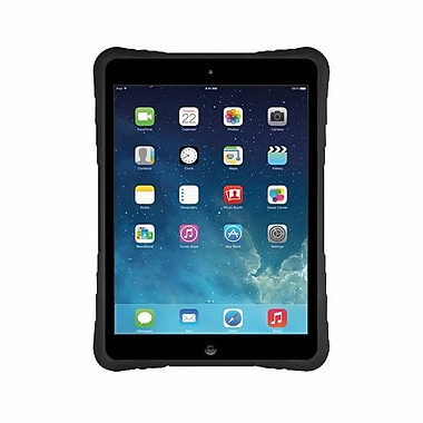 Macally™ Hardshell Case With Flexible Grip For iPad Air, Black
