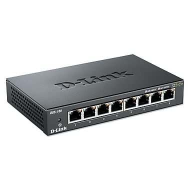 D-Link Gigabit Ethernet Switch DGS108 8-Port