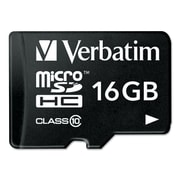 16GB Verbatim Portable Memory MicroSDHC Card (Class 10) w/Adapter