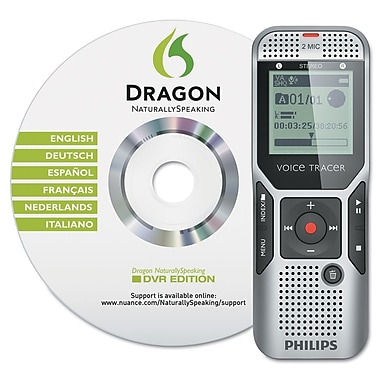Philips Speech Processing DVT170000 Digital Voice Tracer 1700 Recorder Titanium