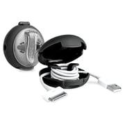 Dotz™ Mini Cord Case Fits Upto 5' Cable, Black