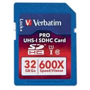 Verbatim 600X Pro SDHC Card UHS-1, Class 10, 32GB