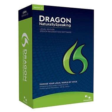 Nuance® Dragon Naturally Speaking Legal v. 12 Upgrade Software