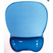 Aidata® 9 3/4(D) Nonskid PU Base Crystal Gel Mouse Pad Wrist Rest, Blue