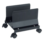 Aidata® Heavy Duty Metal Mobile CPU Stand, Black