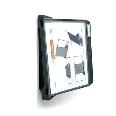 Aidata® Flip & Find Wall Mount Reference Organizer With 10 Display Panels, Black