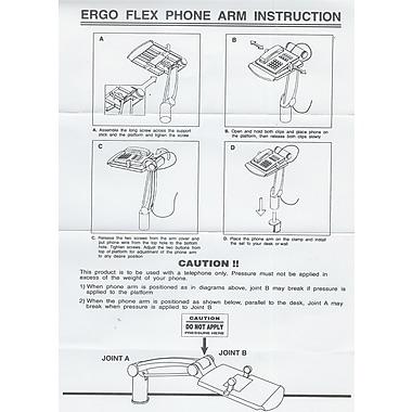 Aidata® TA001 Ergo Flex Phone Arm, Platinum