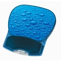 Aidata® 10in.(D) Nonskid Rubber Base Deluxe Gel Mouse Pad, Blue Water