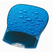 Aidata® 10(D) Nonskid Rubber Base Deluxe Gel Mouse Pad, Blue Water