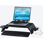 Aidata® 20 lbs. Notebook and LCD Monitor Stand With Hub and Adapter