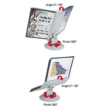 Aidata® 2 Motion Rotary Reference Organizer Display With 10 Display Panels, Gray