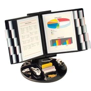Aidata® Executive Rotary Base Organizer With 20 Display Panels, Black