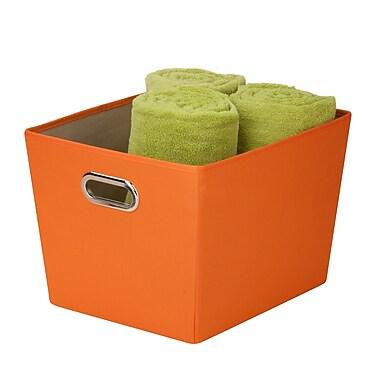 Honey Can Do® Medium Decorative Storage Bin with Handles, Orange
