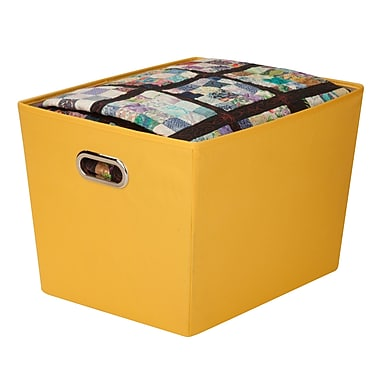 Honey Can Do® Large Decorative Storage Bin with Handles, Yellow
