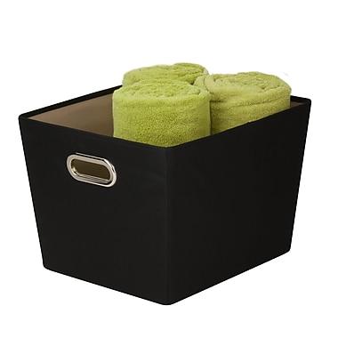 Honey Can Do® Medium Decorative Storage Bin with Handles, Black