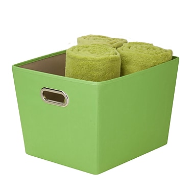 Honey Can Do® Medium Decorative Storage Bin with Handles, Green