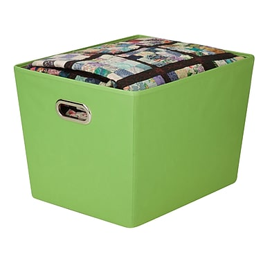 Honey Can Do® Large Decorative Storage Bin with Handles, Green