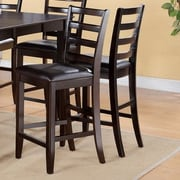 East West Fairwinds Faux Leather Upholstered Seat Stool with Ladder Back (Set of 2)